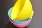 Мисочка пластиковая для масок, диаметр: 10,5 см., высота: 7,5 см., желтая.
